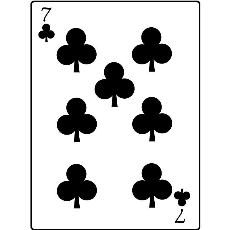 Free 7 of Clubs