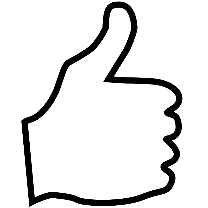 Thumbs up right hand. Free clipart savanaprice
