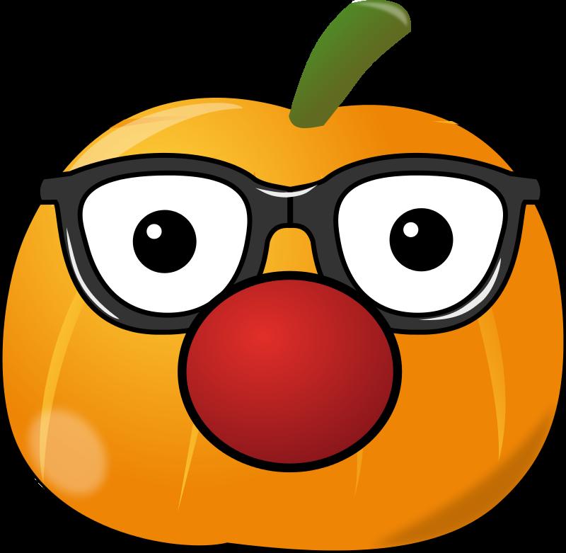 Free Clipart: Clowny pumpkin | contactr