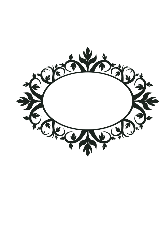 Free Ornament Oval Frame