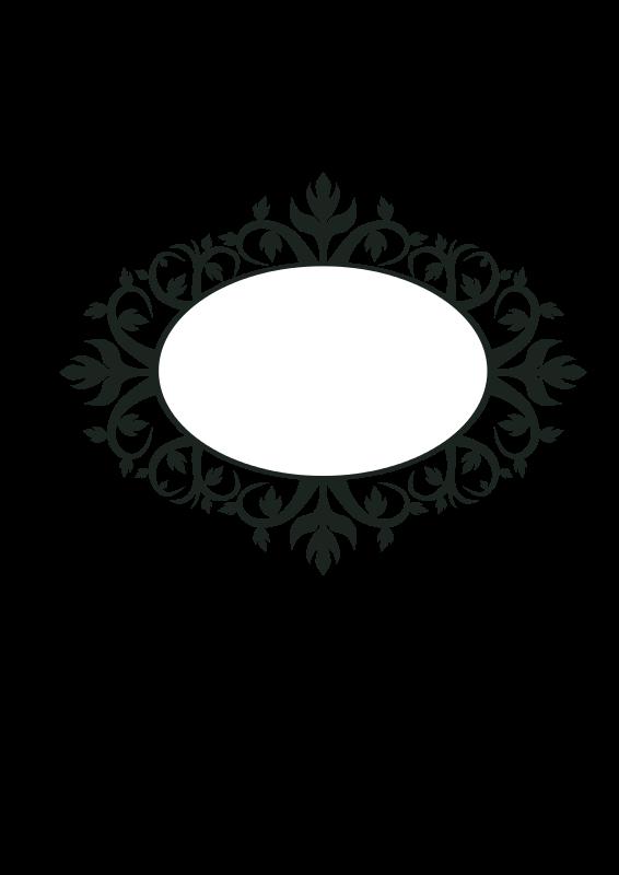 Free Ornament Oval Frame