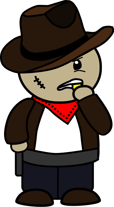 Free Clipart: Cowboy cartoon | dear_theophilus