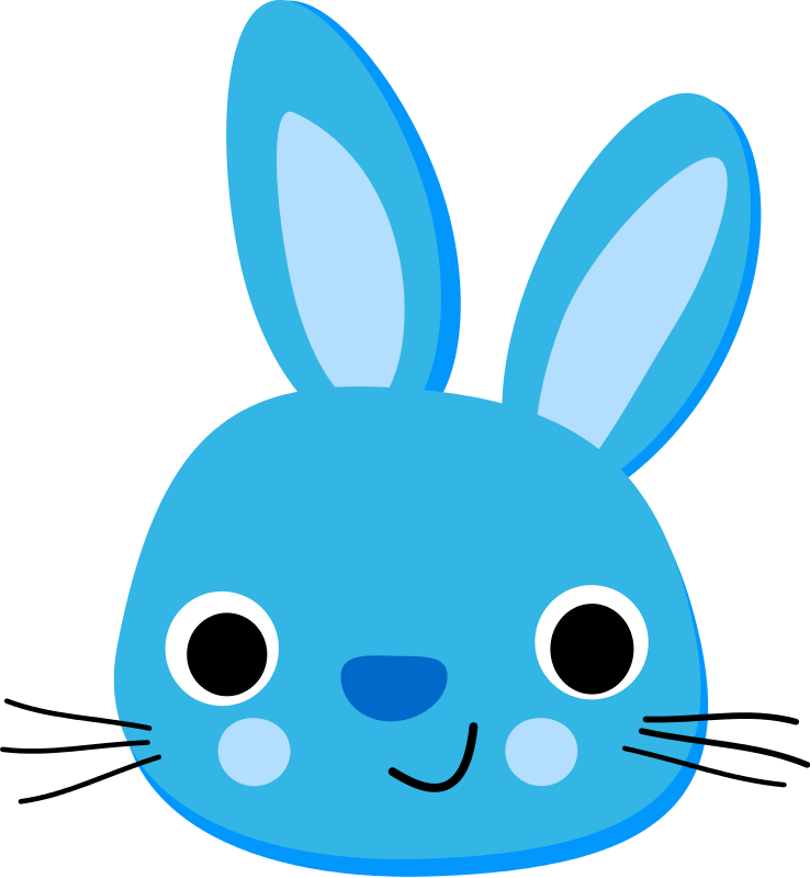 Free Blue Rabbit - Lapin Bleu
