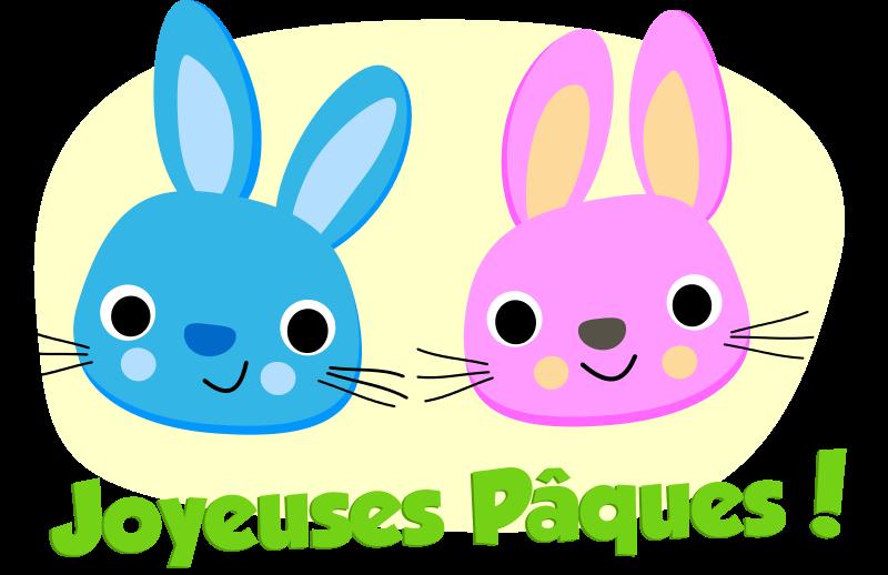 Free Joyeuses Pâques - Lapins