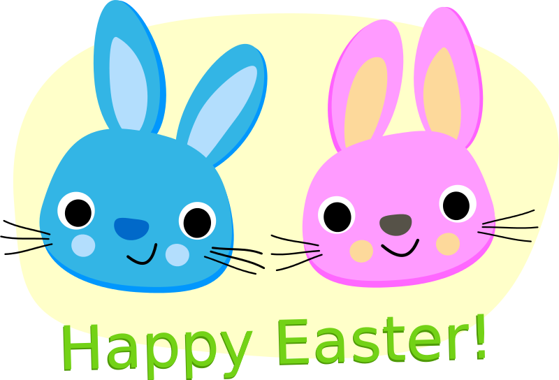 Free Happy Easter - Rabbits