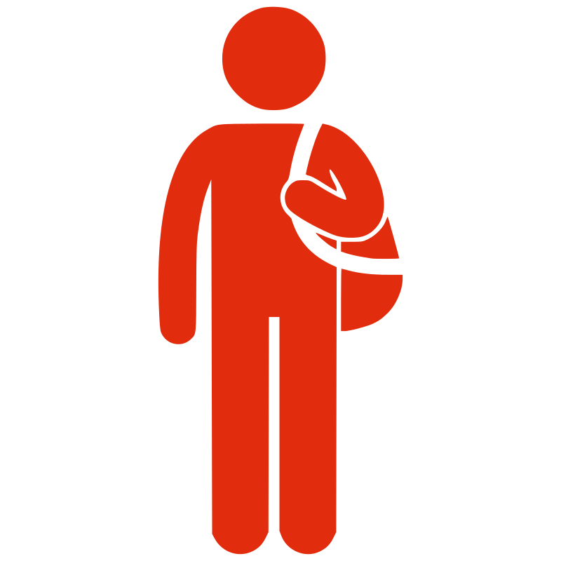 Free Silhouette man with bag