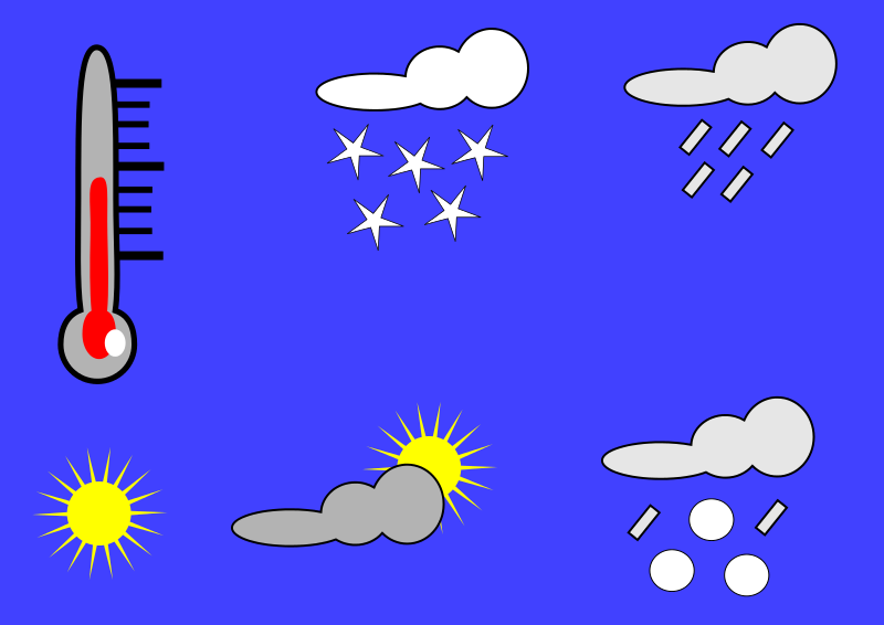 Free Clipart: Wetterpiktogramme | user unknown