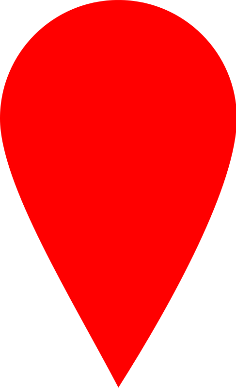 Free Red map locator marker