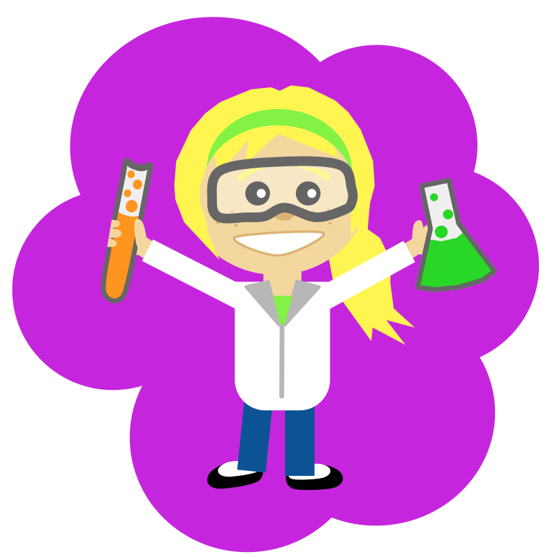 Free Clipart: Science Girl with Ponytail | Scout
