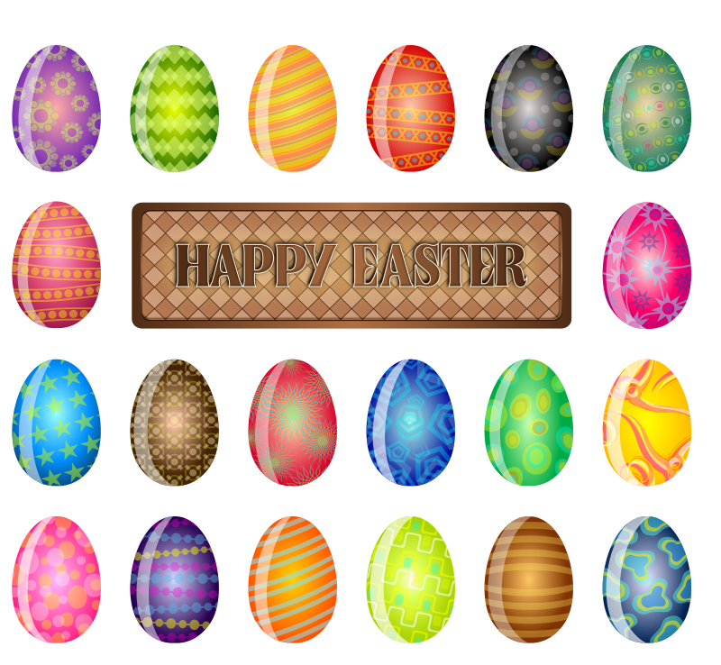 Free Clipart: Happy Easter Sign | chad78