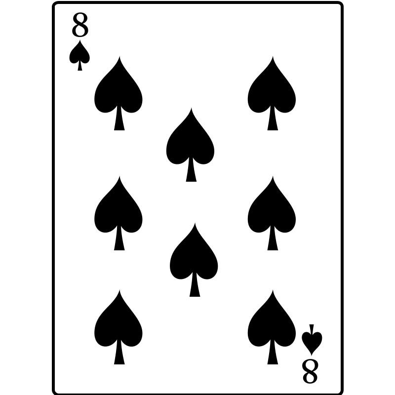 Free 8 of Spades
