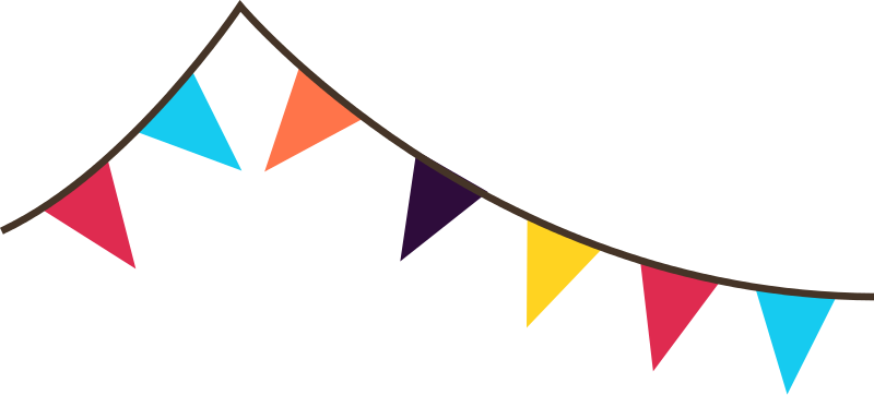 Free Bunting banner flags