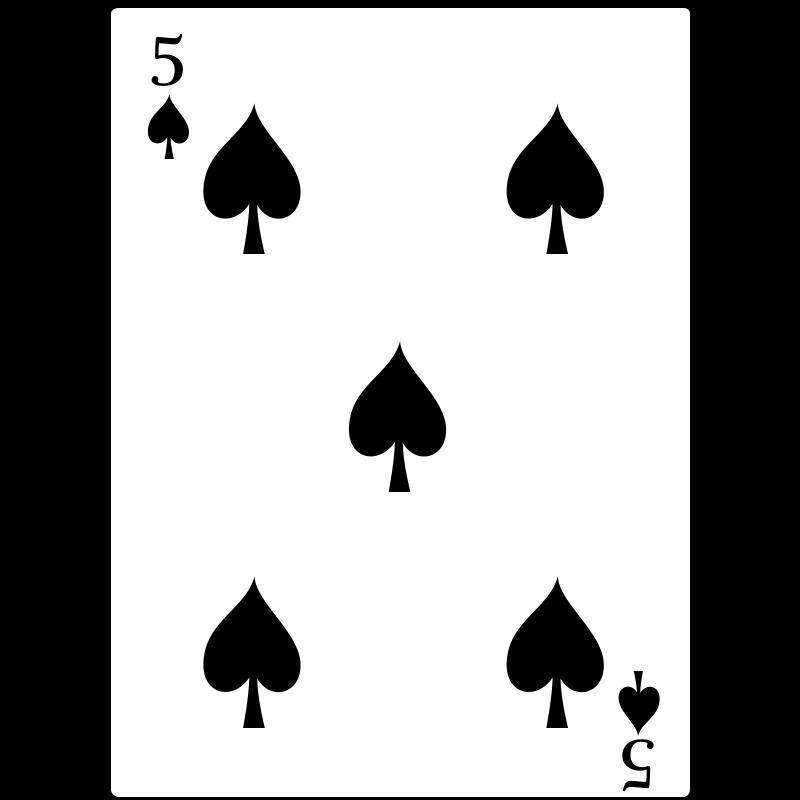 Free 5 of Spades