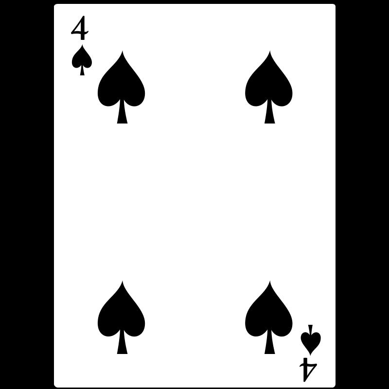 Free 4 of Spades