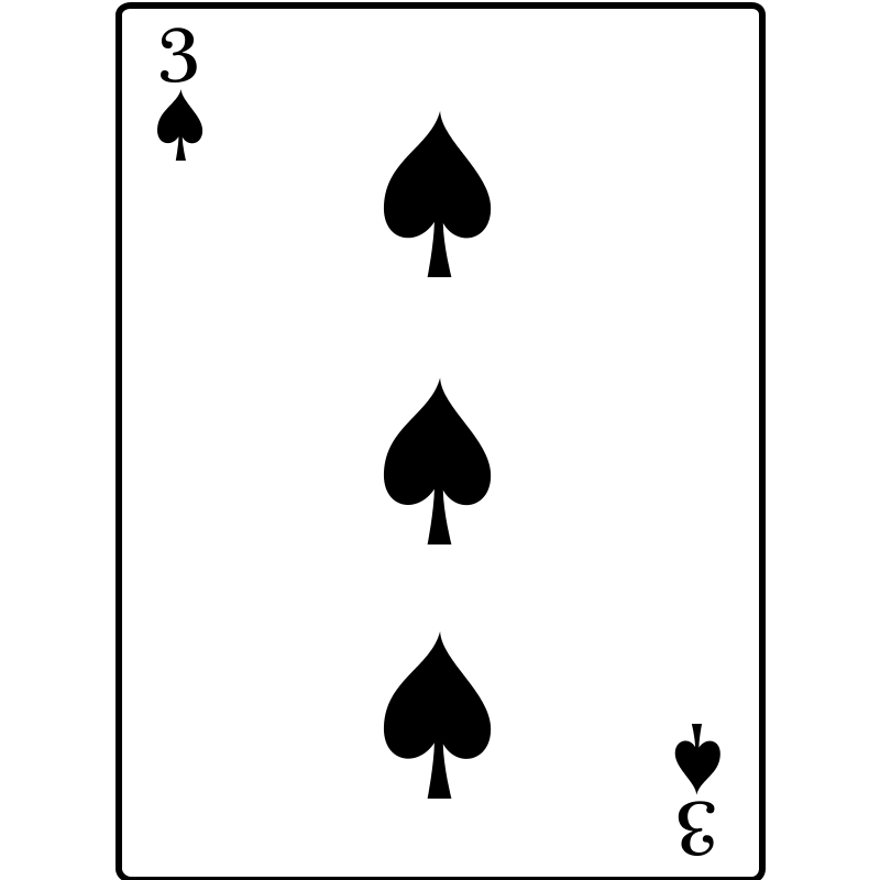 Free 3 of Spades