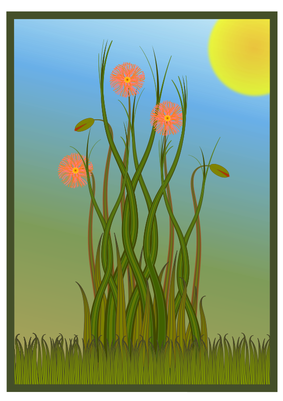 Free Grass and Flowers