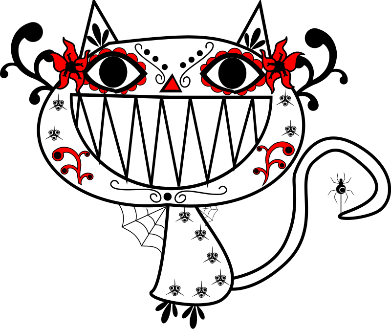 Free Catrina Color Smily Cat