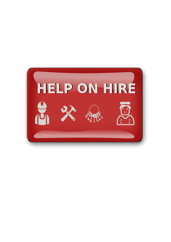 Free help on hire sign
