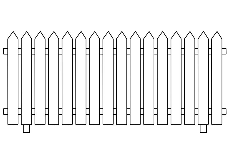 Free Clipart: White Picket Fence | ghosthand