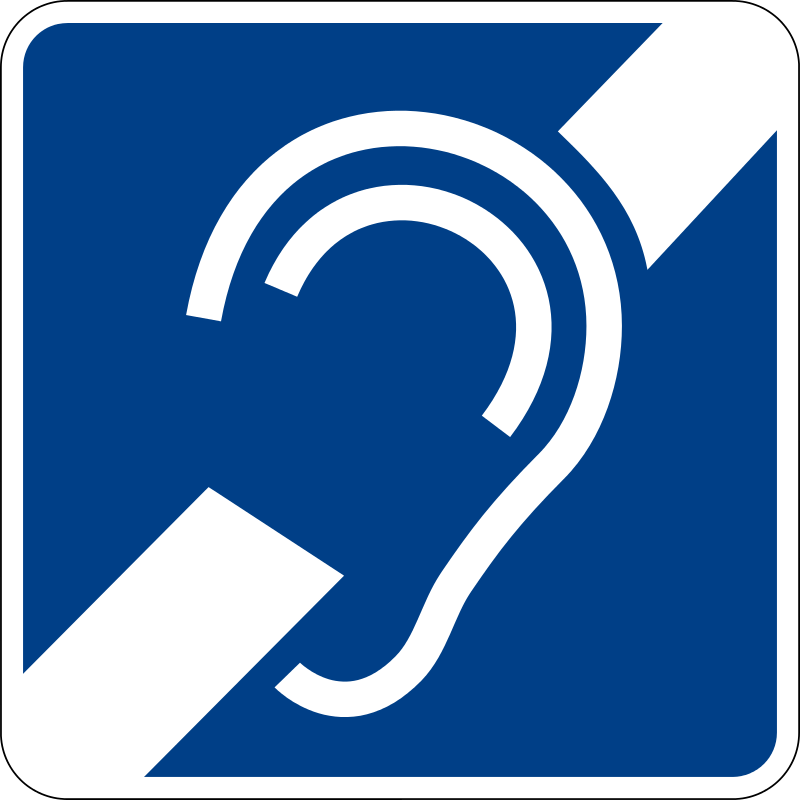 Free Clipart: Hearing impairment sign | luffy86