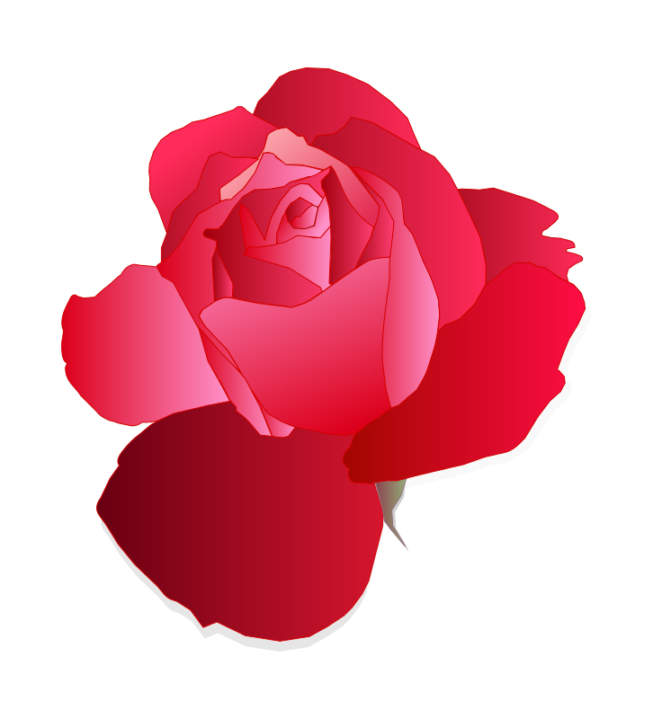 Free Clipart: Red Rose | mirys