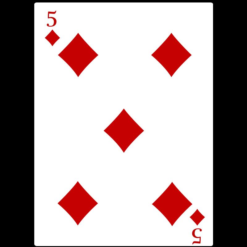 Free 5 of Diamonds