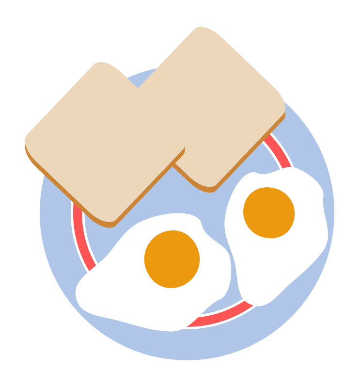 Free Bull's eye eggs and toast