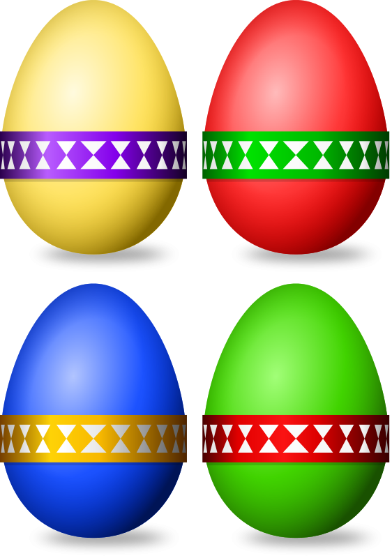 Free Decorated Eggs