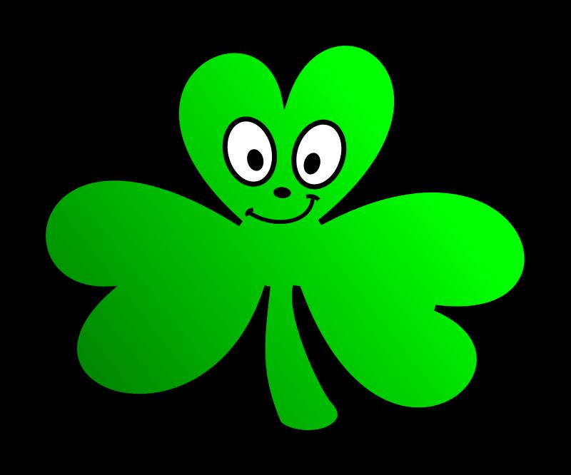 Free Green Shamrock Cartoon Face