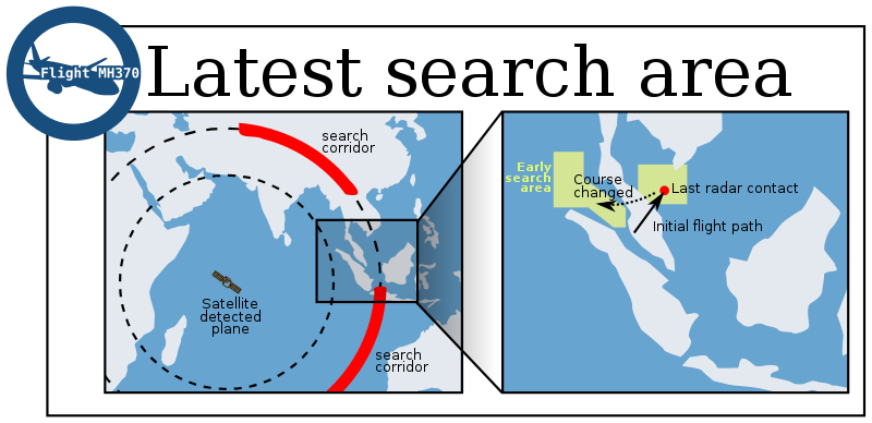 Free Search Area Malaysian flight MH 370