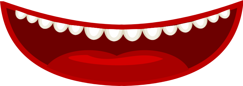 Free Mouth in a cartoon style