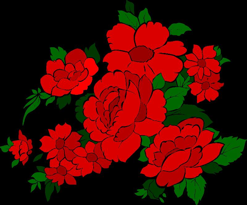 Free vintage flowers rose 4