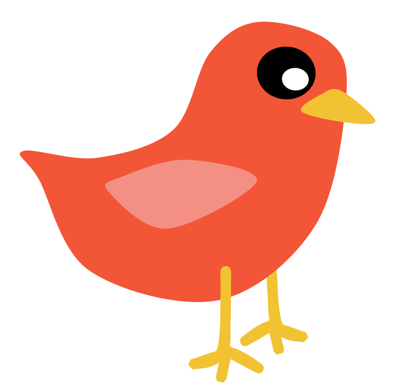 Bird red. Free clipart scout