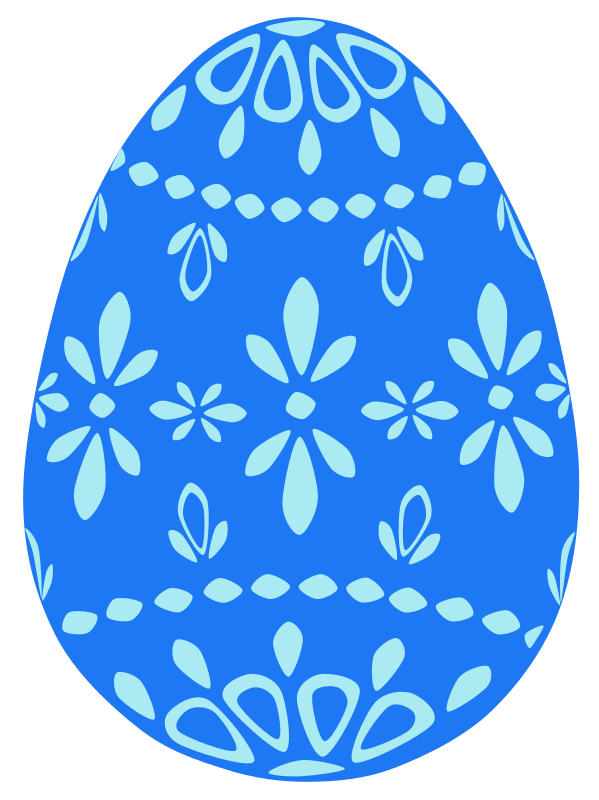 Free Blue Lace Easter Egg