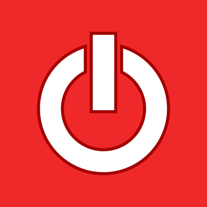 Free Flat Power Button