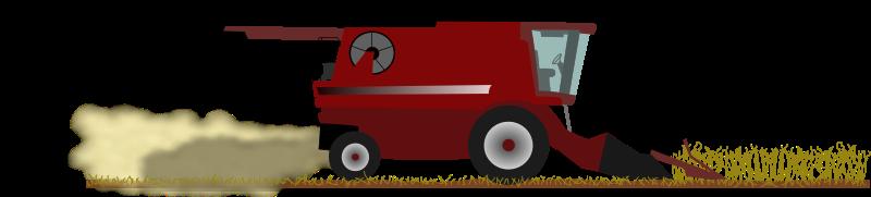 Free Combine harvest in field
