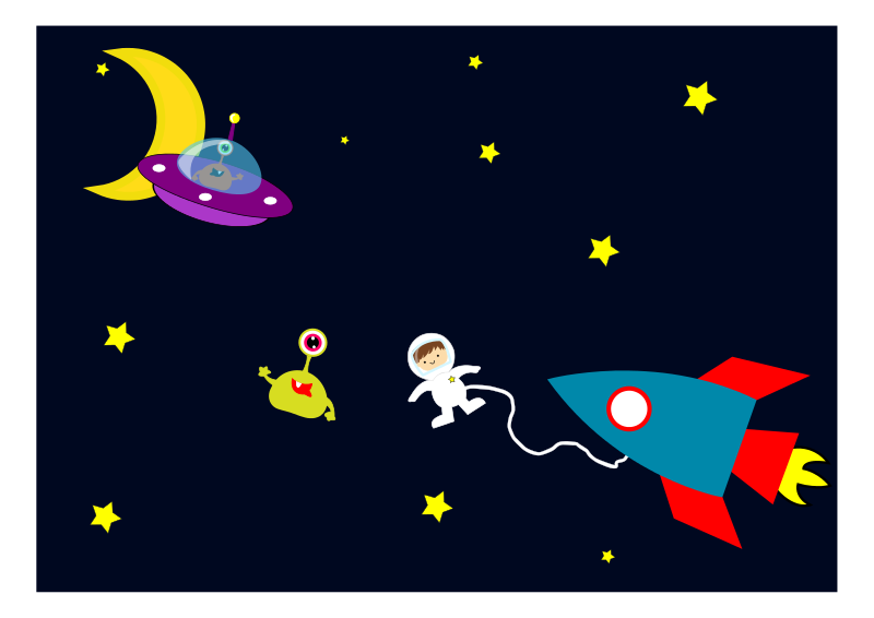 Free Astronaut encounters Aliens in space