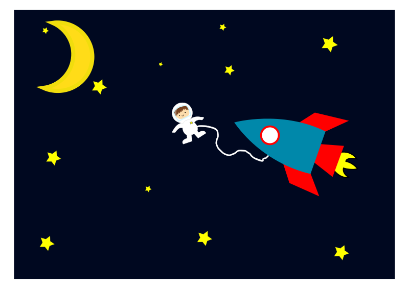 Free Clipart: Astronaut out of the space rocket | agomjo