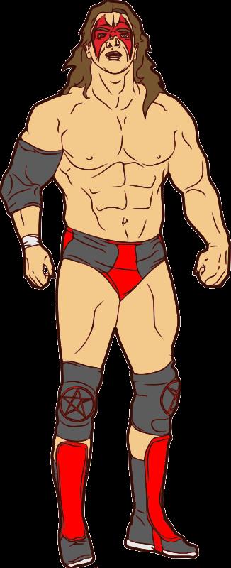 free clipart muscular professional wrestler jpneok rh 1001freedownloads com girl wrestler clipart wrestler clipart free