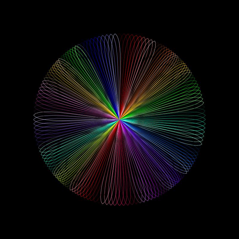 Free Rainbow line art 2