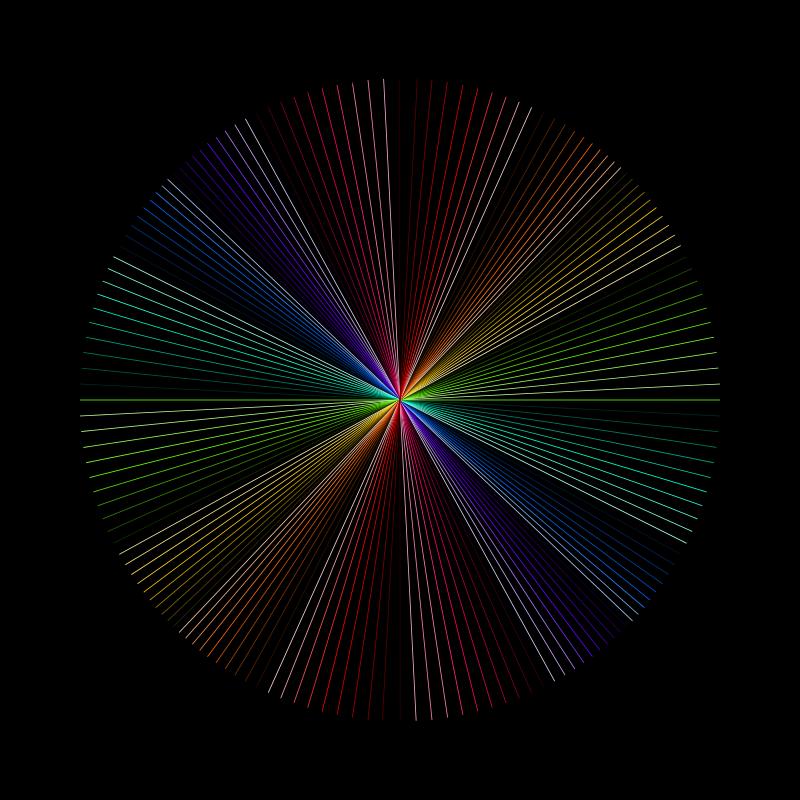 Free Rainbow line art