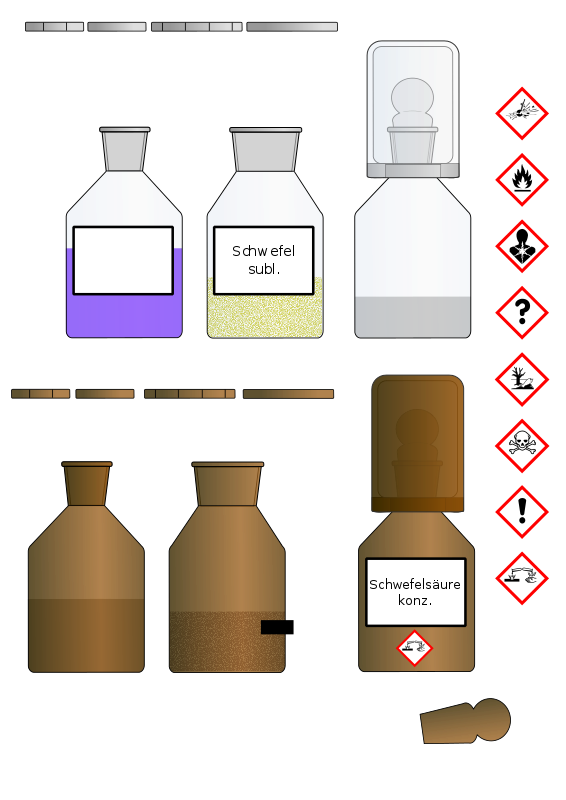 Free Chemikalien Flaschen/Chemical bottles