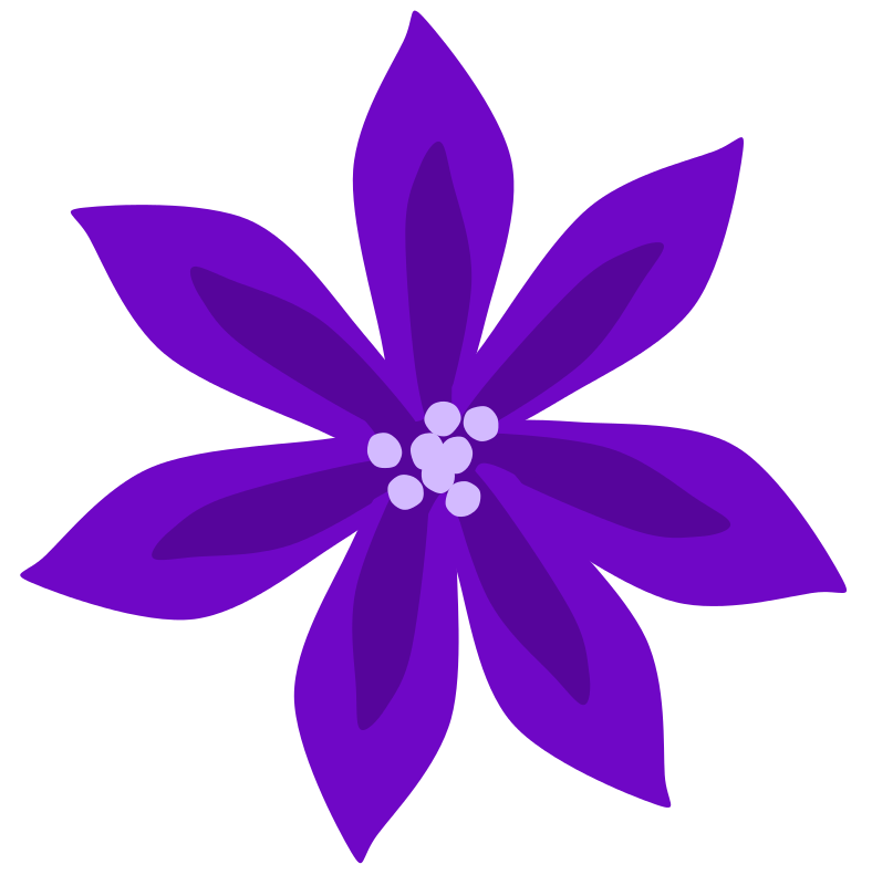Free Clipart: Purple Lily | Scout