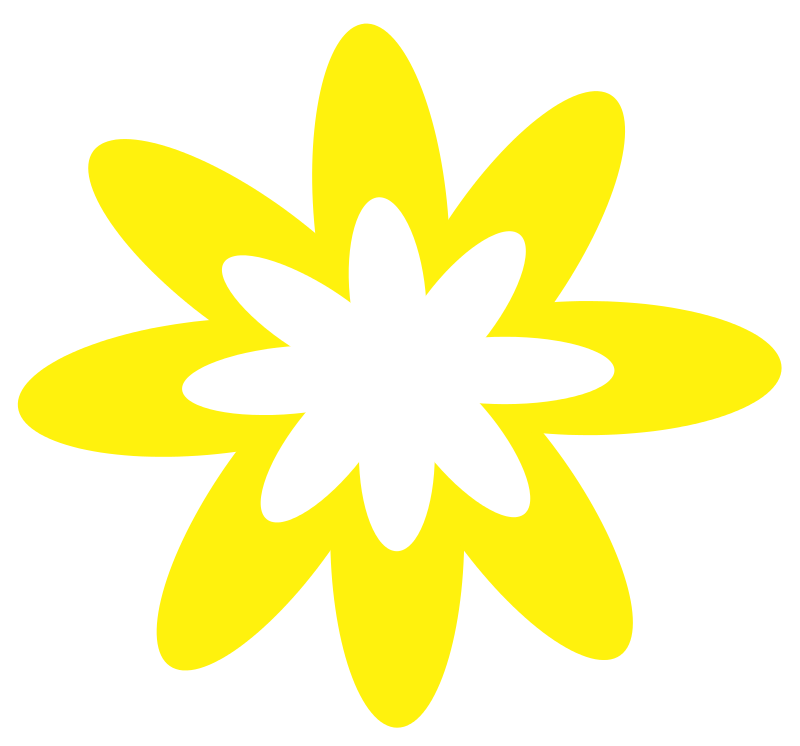 Free Yellow Burst Flower