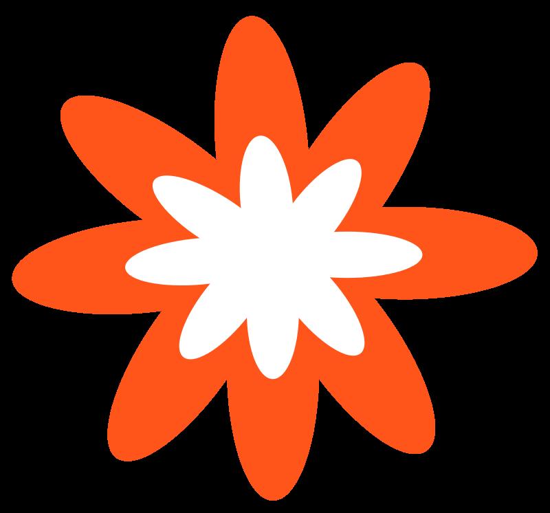 Free Dark Orange Burst Flower