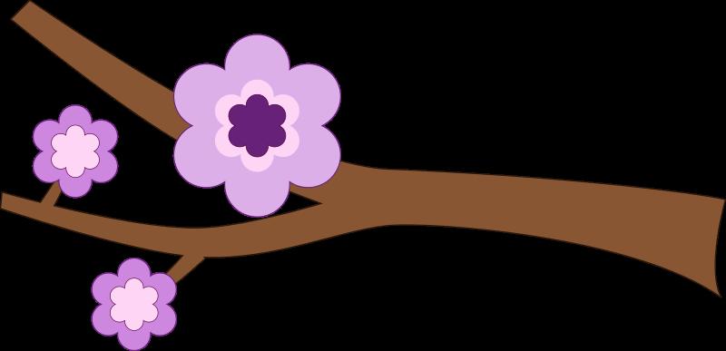 Free Purple Flower Longer branch