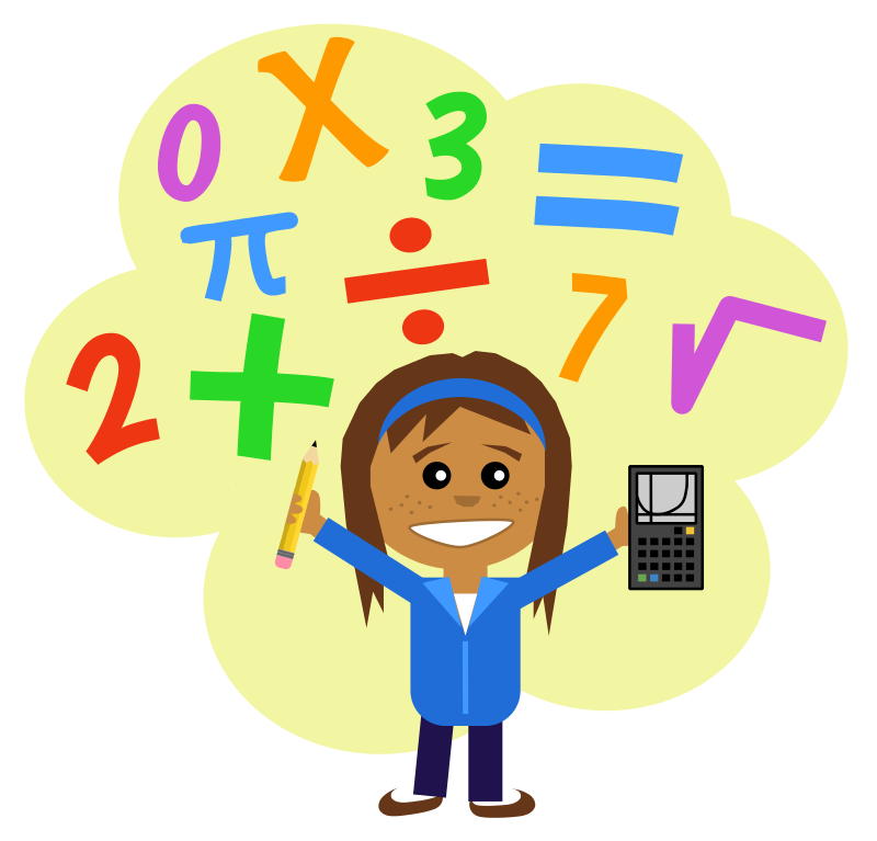 Free Clipart: Math Girl | Scout