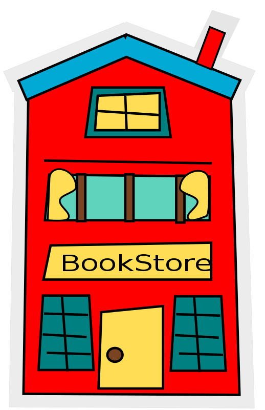Free cartoon bookstore_building