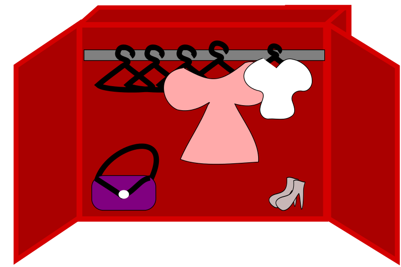free clipart clothes shoes and a bag in a closet loveandread rh 1001freedownloads com closet clipart black and white closet door clipart