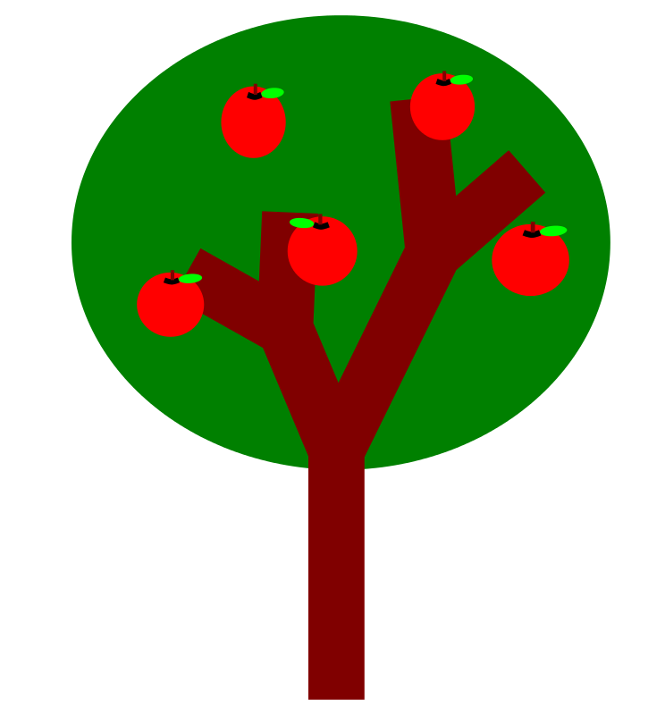 Free A tree with apples